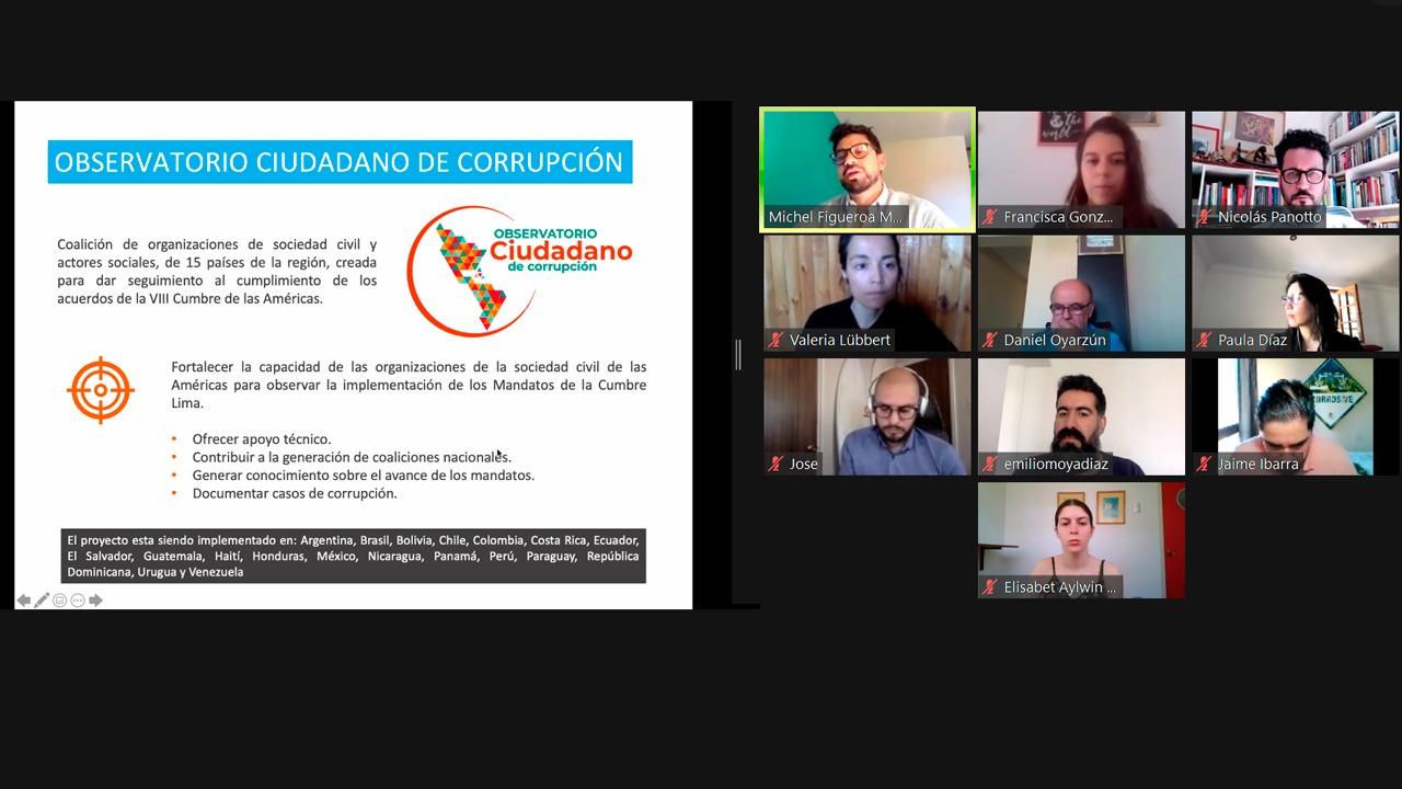 OCC mesas de trabajo sobre corrupción en Chile